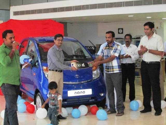 Territory Sales Manager Mr. Manish Mulye, handing over